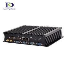 Большая Акция безвентиляторный HTPC Мини-ПК Core i7 5550U Двухъядерный Intel HD Графика 6000 2 * lan + LAN 300 м WI-FI 6 * COM промышленного рабочего стола