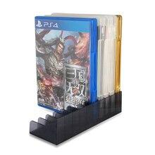 2 unids/set PS4 Slim Pro accesorios de juego CD discos de almacenamiento soporte para Sony Playstation 4 PS4 juego Disco soporte