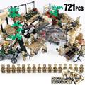 Kazi WW2 Military Figures Motorcycle Soldier Building Blocks Brick Set Army Weapons Guns Compatible Lepin Toys For Children