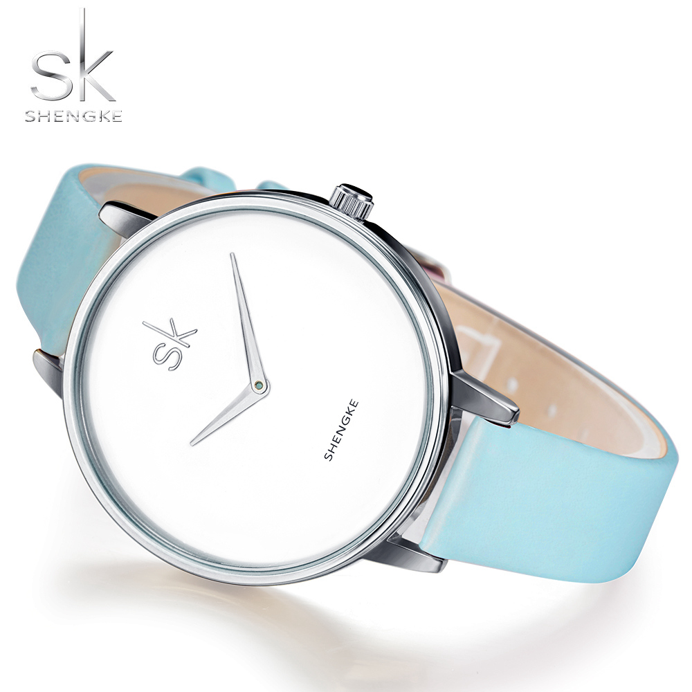 Shengke Fashion Wrist Watch Women Watches Ladies Luxury Brand Famous Quartz Watch Female Clock Relogio Feminino Montre Femme SK mance famous brand woman watches 2016 fashion luxury women clock charm wrap around leatheroid quartz wrist watch montre femme