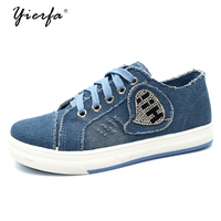 2017 Women S Shoes Denim Breathable Students Canvas Shoes Female Version Of The Pure Color Plate