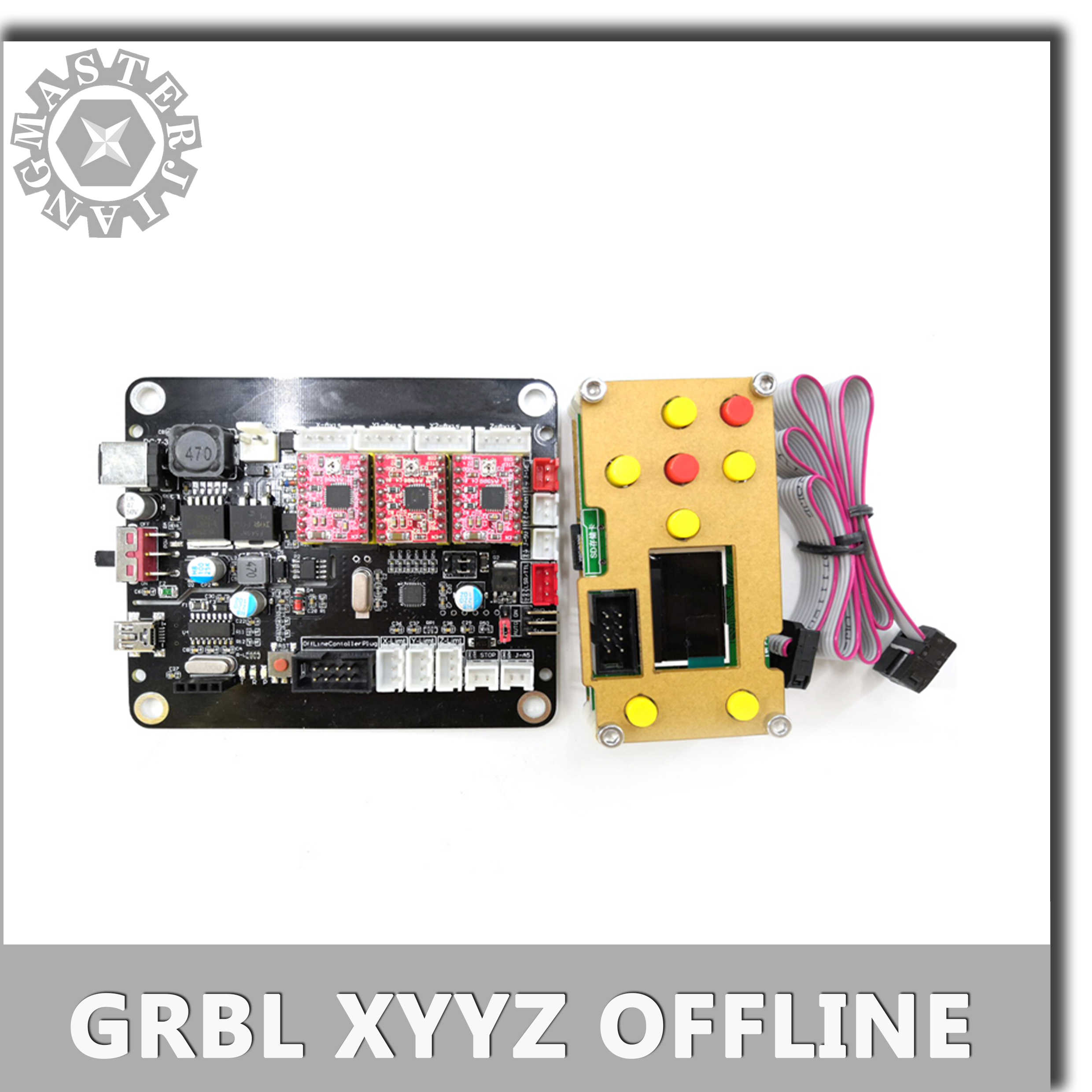 """3Axis USB Stepper Motor GRBL Laser Driver Controller Board+1.8/"""" LCD Screen+Cable"""