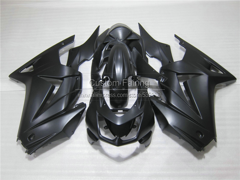 Injection mold plastic Fairing kit for Kawasaki ninja 250r 2008-2014 EX250 08 09 10 11 12 13 14 all matte black fairings RR24 коврики в салон novline volkswagen golf plus хэтчбек 2005 текстильные подложка стандарт 5 шт nlt 51 16 11 110kh