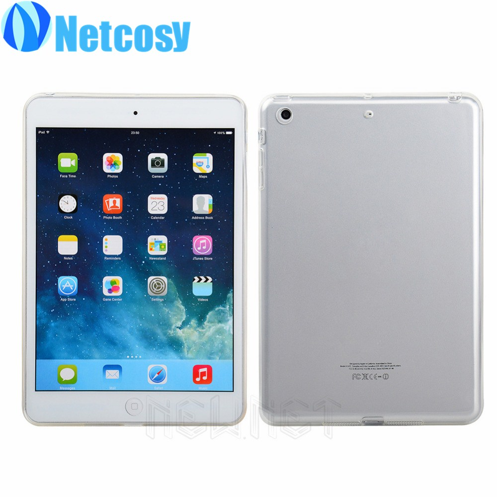 Ultra-Thin Clear Soft Skin Silicone TPU Protective Case Funda for Apple Ipad Mini / Air Cover Carcasa Para Tablet Coque De Capa 2017 silicon slim soft tablet case for ipad air 1 rubble protective funda cover for apple ipad air 1 2 for ipad 5 6 case capa