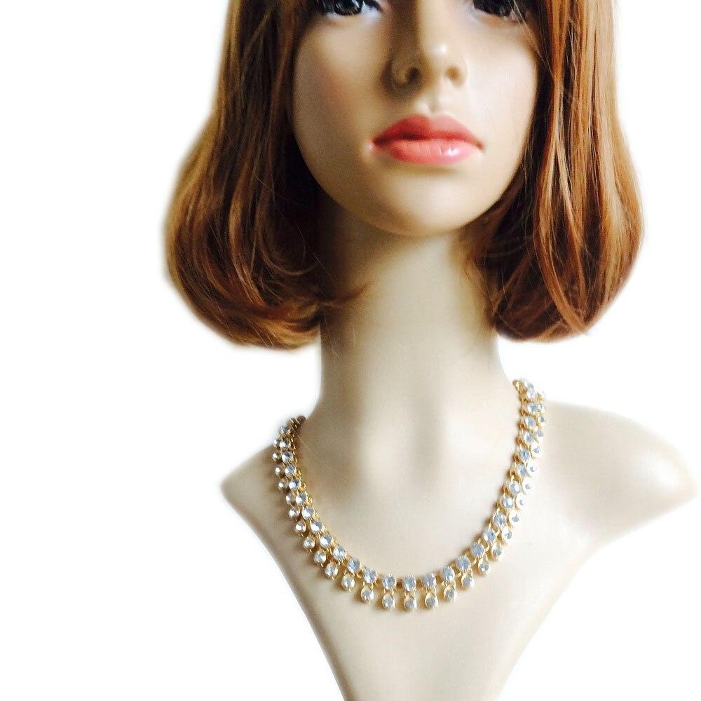 LiuJee Simple Clear Kundan Indian Bridal Vintage Jewelry Necklace ...