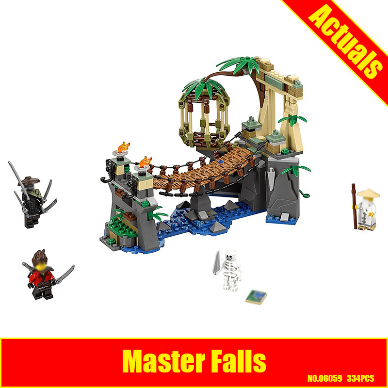 Lepin 06059 334pcs ninja Movie Master Falls Building Blocks bricks DIY Compatible 70608 Brick Toy