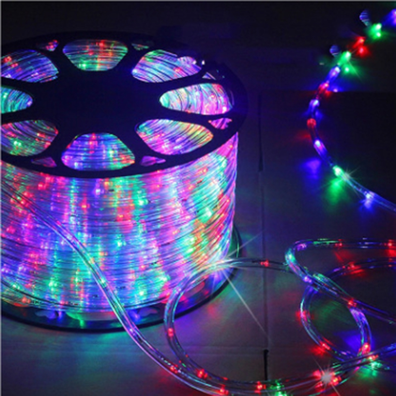 2M-18M AC220V IP67 Waterproof Rainbow Tube Rope Led Strip Christmas Outdoor Holiday Decoration Lights With 8 Mode Controller
