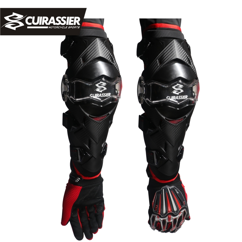 Cuirassier E09 K09 profesional de la motocicleta Protector de codo de Motocross cuesta abajo de la suciedad bicicleta MTB protección de las carreras de carretera rodilleras