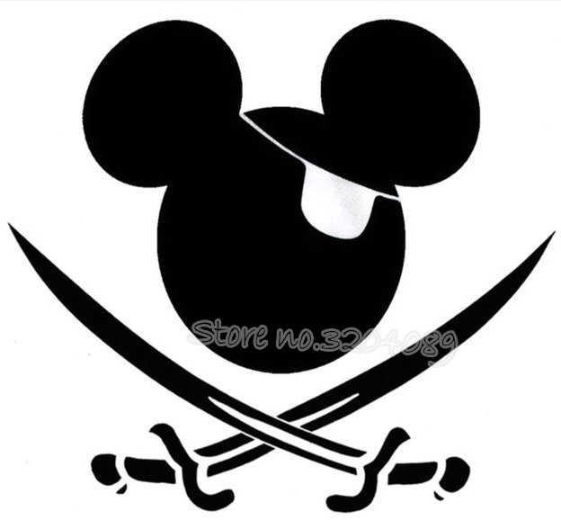 Adhesivo De Pared Para Nino Dibujo Animado Mickey Mouse Pirata