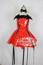 Cosplay shugo chara hoshina utau cuero rojo dress/al por mayor de halloween fiesta de navidad