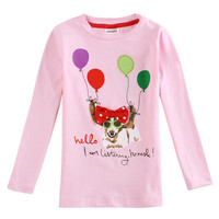 Novatx F4289 Retail Baby Girl Clothes 2016 New Long Sleeves Children Kids Girl T Shirt Casual