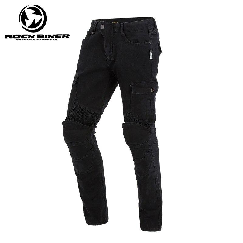 ROCK BIKER Motorcycle Pants Black Motorbike Off-road Trouser Rider Pantalon Moto Motocross Pants with Approve Protector