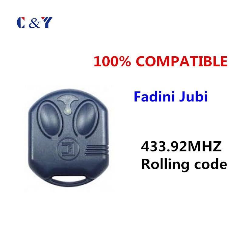 Fadini Jubi Compatible Small RF Garage Door Electric Gate 2 Button Remote  434mhz