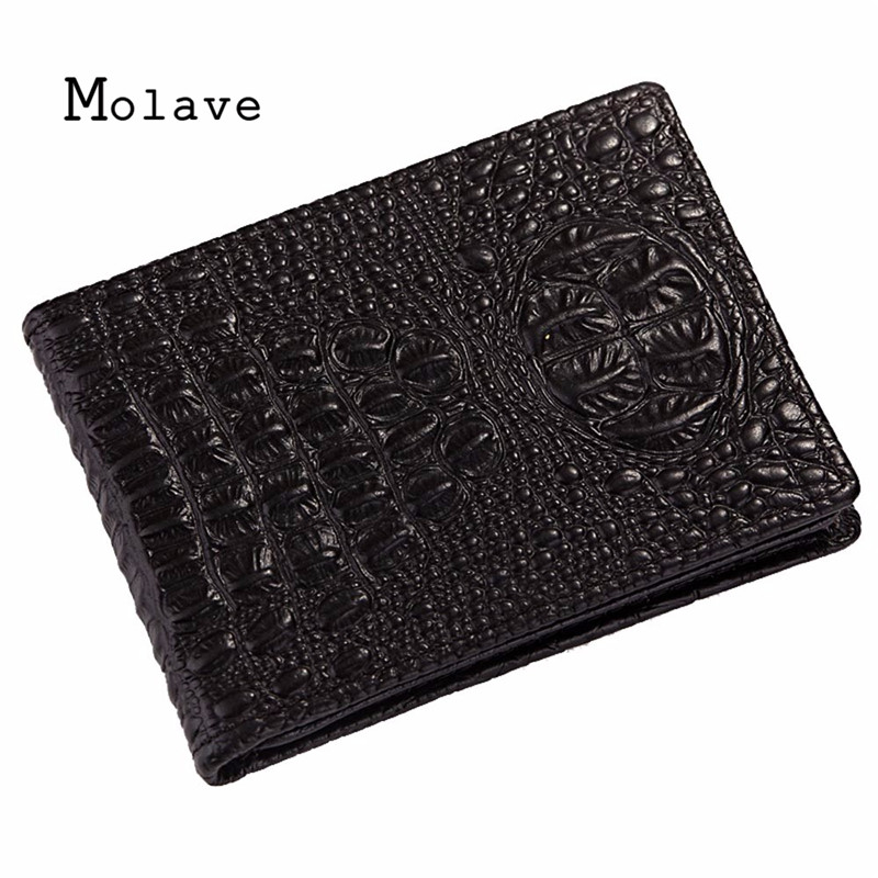 MOLAVE 2017 Neue Mode Fur Manner/Frauen Krokodil Karte drachen Tasche Kreditkarte Paket Halter-kartenkasten visitenkarte oct18