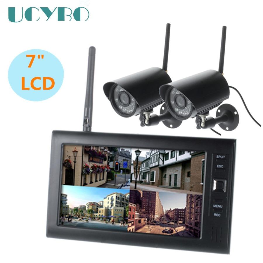 Wifi wireless security kamera system für 2,4 Ghz home video überwachung cctv set w/7
