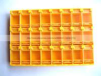 2 Pcs SMT Electronic Component Mini Storage Box 24 Grid Orange T156