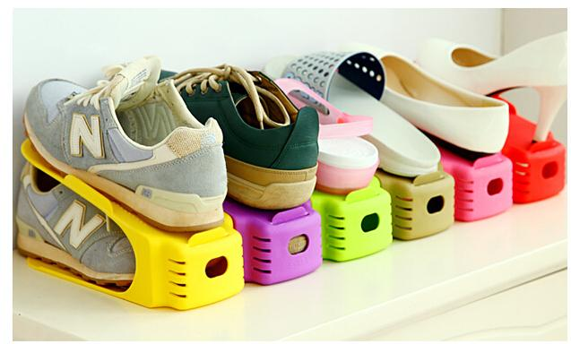 2Pcs/Lot Shoes Rack Shoes Organizer Space Saving Shoes Tree Stand Shoe  Storage Holder Adjustable Magic 2 Tier E16 In Storage Holders U0026 Racks From  Home ...