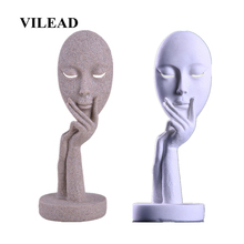 VILEAD 11.8 Nature Sandstone Abstract Mask Statuettes Miniatures Europe Figurines Window Display Cabinet Home Decoration