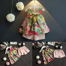Sleeveless Printing Floral Suit