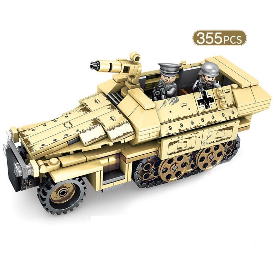 World War Panzerkampfwagen Iv Moc Minifigs Batisbricks Building Block Ww2 Germany Army Force Figures Assemable Model Bricks Toys Blocks