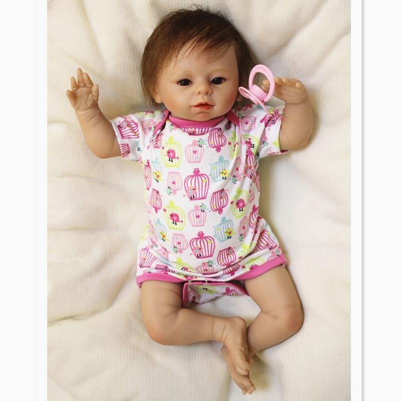 49 CM Dolls Reborn Baby Born Vinyl Doll Toy for Children Birthday Gifts,20 Inch Reborn Babies Bonecas Handmade Baby Toys Gift