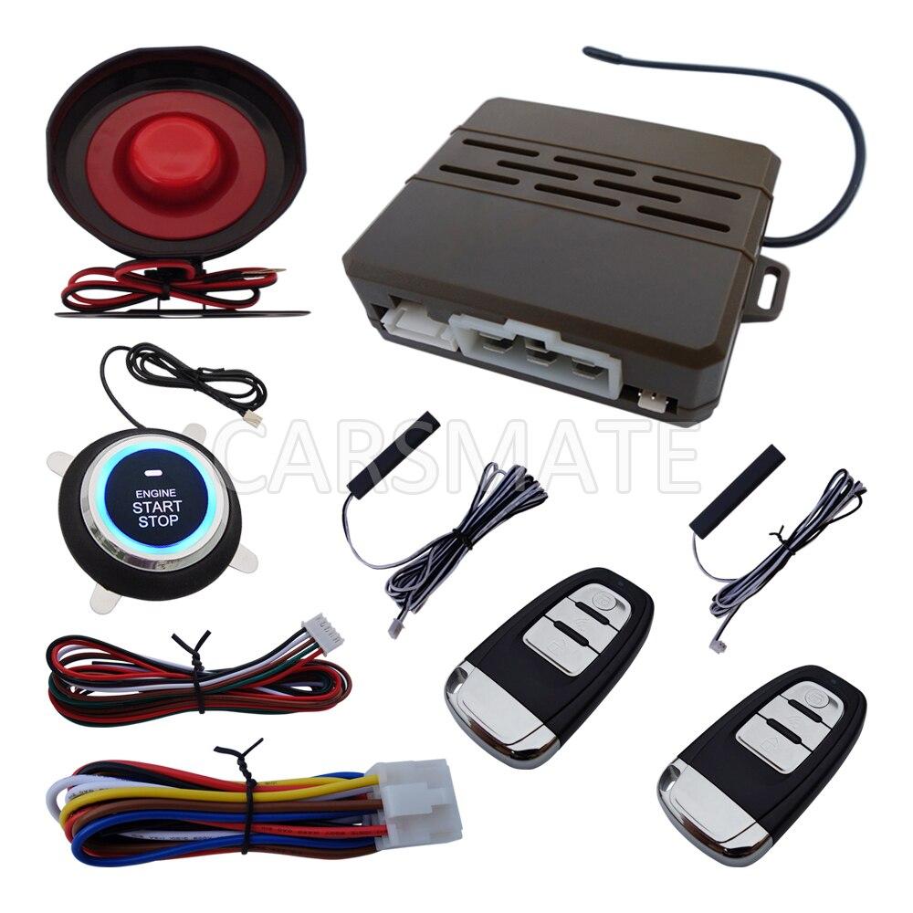 Новый ПКЕ Автомобильная сигнализация с дистанционного запуска двигателя и кнопка запуска двигателя многие Роллинг код и ручной тормоз тестирование