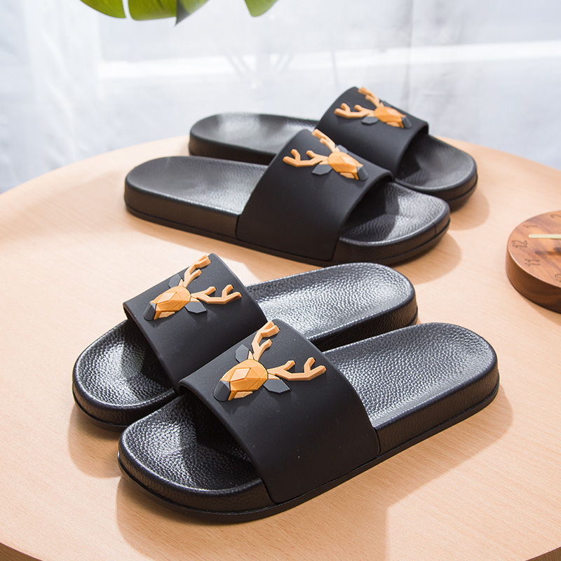 Women 5d Cartoon Deer Slide Sandals Summer Slippers Slides Flats Beach Slides Home Slippers Slip On Bothe Sandals Women Shoes 1