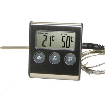 Digital Oven Thermometer Kitchen Food Cooking Grilling Meat BBQ Thermometer and Timer Water Milk Wine Liquid Temperature Probe 1