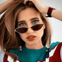 2020 Occhiali da Sole Delle Donne di Lusso Occhio di Gatto di Marca di Design in Metallo Telaio Nuovo Oro Rosso Vintage Cateye Occhiali da Sole di Modo Della Signora Occhiali