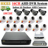 Video Surveillance System 16 Channel AHD 1080N DVR Kit With Outdoor Indoor Cctv Camera 720P