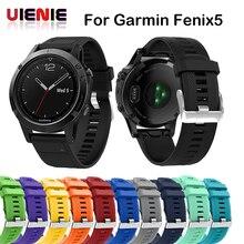 цена 14 colors Soft Silicone Replacement wristband Watch Band bracelet strap for Garmin Fenix 5 For Smart Watch 22mm wrist band strap онлайн в 2017 году