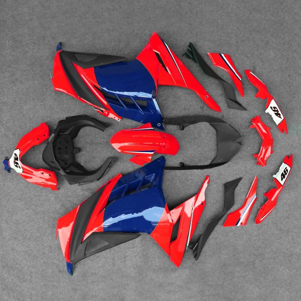ABS Enjeksiyon Fairing Kaporta Seti Fit Kawasaki Ninja 300 2013-2017 14 15 16ABS Enjeksiyon Fairing Kaporta Seti Fit Kawasaki Ninja 300 2013-2017 14 15 16