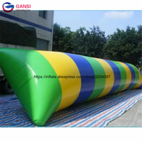 9*3m inflatable water catapult blob,lack water game jumping air bag inflatable water blobs for rental