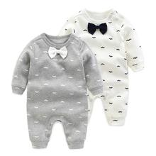 2018 spring – Autumn baby boy clothing Cotton Long Sleeved baby boy clothes ,cartoon Beard Gentleman baby romper Infantil babies