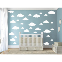 31pcs Set DIY Big Clouds 4 Sizes Decals Removable Vinyl Wall Sticker Kids Room Decoration Art
