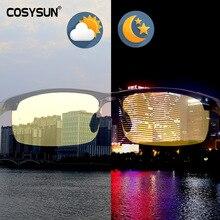 Mężczyźni gogle noktowizyjne ze stopu Aluminium bezpieczna jazda kobiety spolaryzowane okulary przeciwsłoneczne męskie okulary dla kierowców samochodów okulary nocne