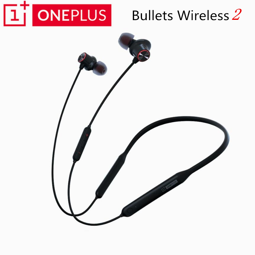 Original OnePlus Bullets Wireless 2 Bluetooth Magnetic Control Mic In Ear Earphone Hybrid AptX Fast Charge For Oneplus 7 Pro 6T