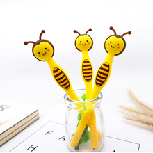 1 pcs Cute bees Gel Pen Promotional Gift Stationery School & Office Supply Kawai Neutral pen Stationery 1 pcs 0 5mm new arrival cute cheese cat gel ink pen promotional gift stationery kawaii school office supplies supply fod