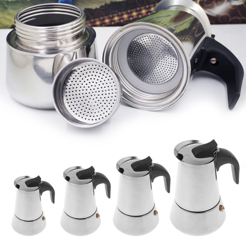 MEXI High Quality Espresso Coffee Maker Stainless Steel Moka Pot Extractor Percolator Stove Home Kichen Appliance Coffee Maker стоимость