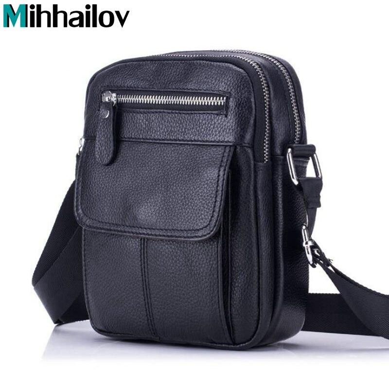 Genuine Leather Bag Men Messenger Bags Men's Crossbody Bag Small Sacoche Homme Satchel Man Cow Leather Shoulder Bags  XS-324