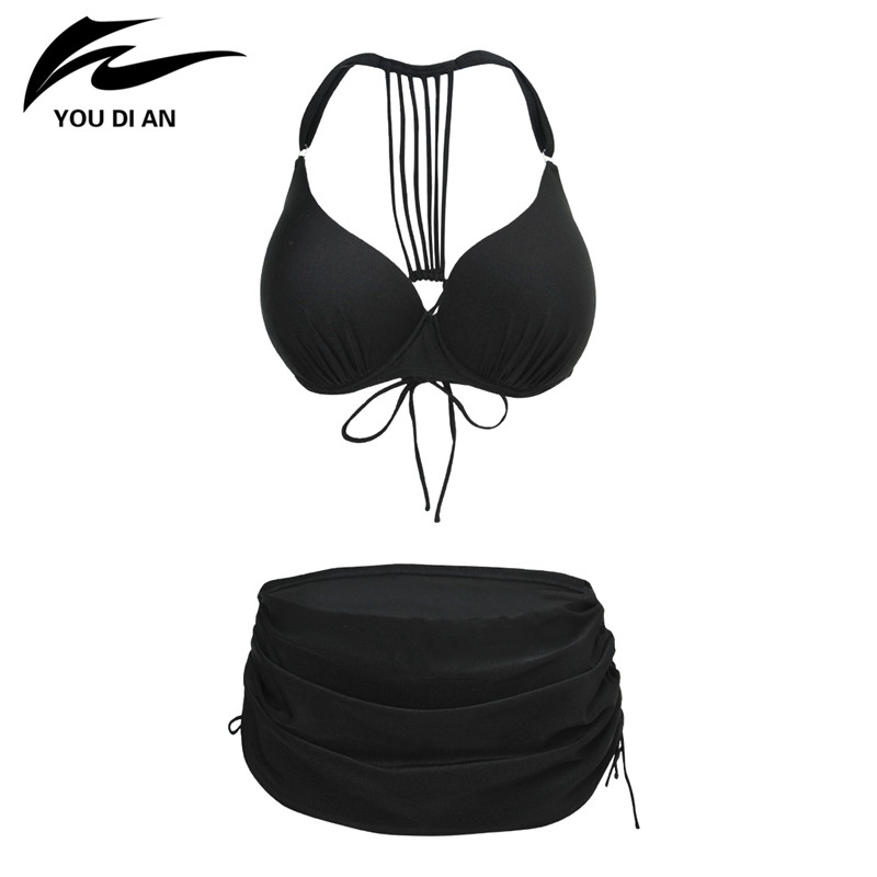 2017 New Arrival Plus Size Swimsuits Bikini Swimwear Women Two Pieces Bathing Suit Push Up Bikini Set Beach Dress new 2016 swimwear 2016 biquines push dress women dress bow vs secret xl brand denim bikini