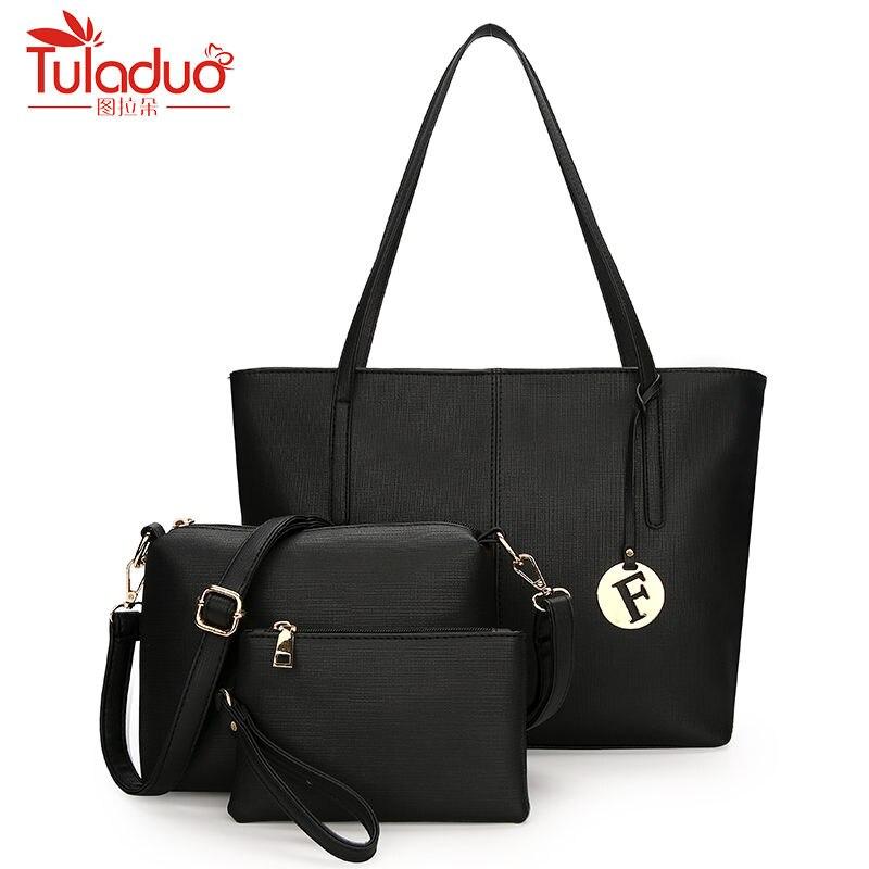 2018 Fashion New Composite Bag 3pcs/Set Women Leather Handbags Bolsas High Quality Women's Messenger Bags Designer Tote Bag high quality tote bag composite bag 2