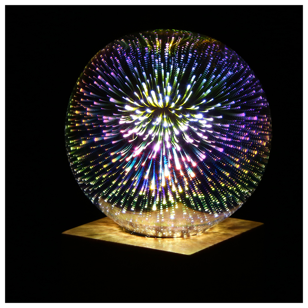 5W LED 3D Decoration Light Bulbs 85V-265V Novelty RGB Lamp G125 Filament Fireworks Ball Light for Home Holiday