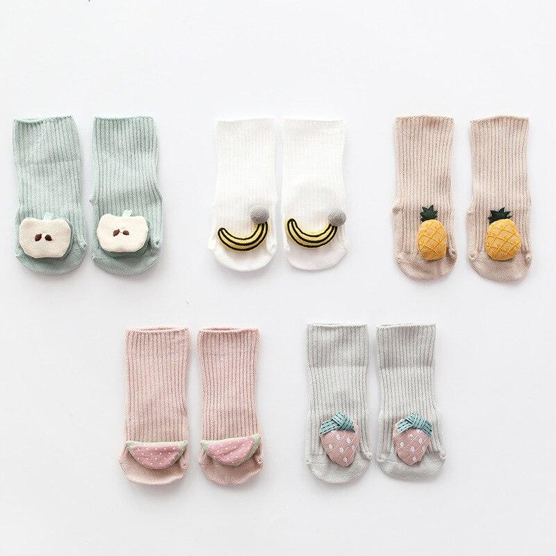 Newborn  Baby Socks  Cute Warm Fruit Styling Newborn Gift Baby Babe Boy Girl Children Floor Anti-skid Toddler Newborn Socks