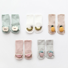 Newborn  baby socks cute warm fruit styling newborn gift babe boy girl children floor anti-skid toddler