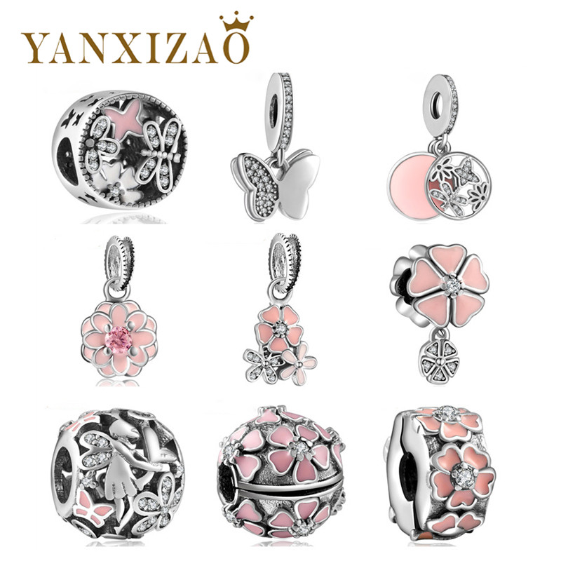 Yanxizao Fit Pandora צמידים וצמידים מקוריים 925 כסף שרשרת חדשה תליון עשה זאת בעצמך תכשיטים עבור אמא של אהבה מתנות