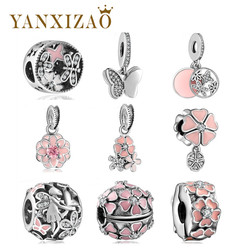 Yanxizao Fit Pandora Original Bracelets & Bangles 925 Silver New Necklace Pendant DIY Jewelry For Mother's Love Gifts