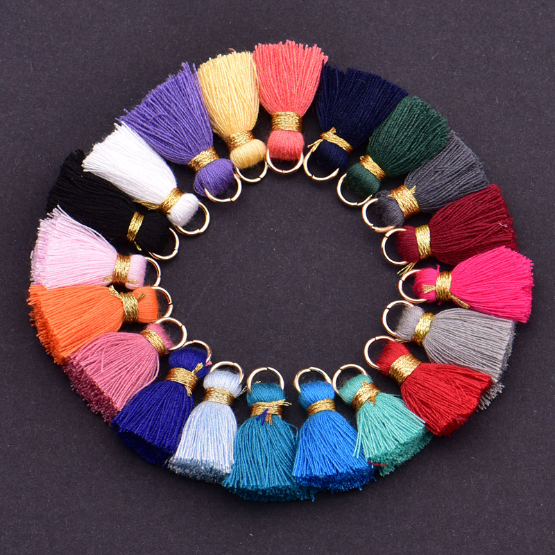 Bookmarks,24 Colors 5 Pcs of Each DIY Projects Happy Shop 120 Pieces 13cm//5 Inch Silky Handmade Soft Craft Mini Tassels with Loops Multicolored for Jewelry Making