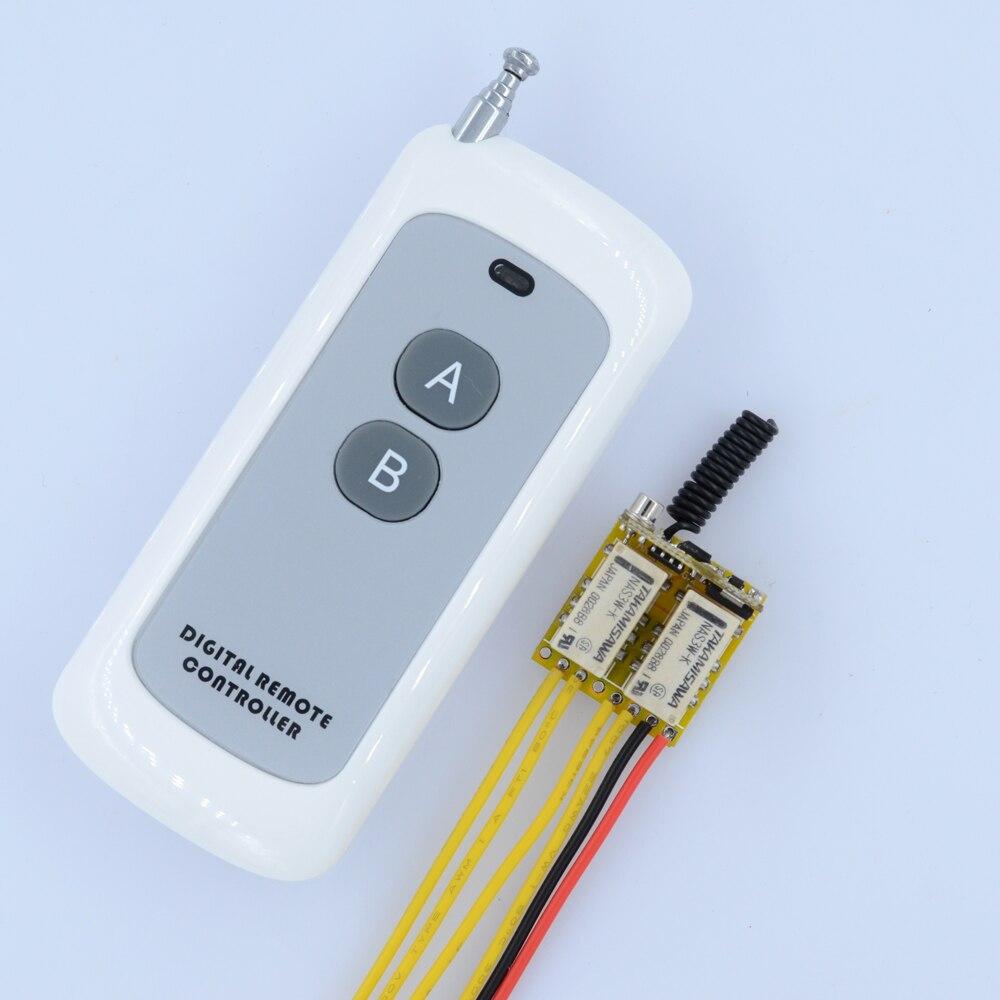 DC 4.5V 5V 6V 7.4V 9V 12V 2 Gang Channel Mini Relay Remote Switch LED Signal Line Remote Contact Switch Output Switching Value dc 3 5v 12v mini relay 2 receiver