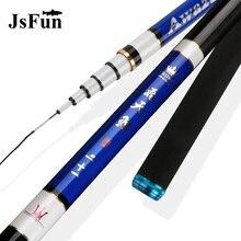 Ultra-Light Hand Stream Fishing Rod Telescopic Carbon Fiber Feeder Fishing Rod 3.6M 4.5M 5.4M 6.3M Carp Pole Fish Tackle L282